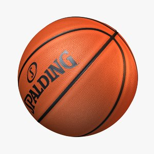 basketball spalding basket ball 3D model