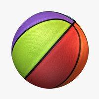 basket ball 8 color 3D model
