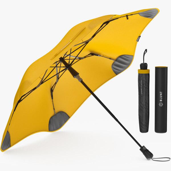 3D umbrella parasol fashion model