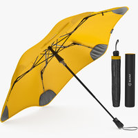 3D umbrella parasol fashion model