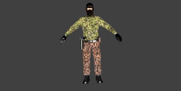 soldier terrorist human model