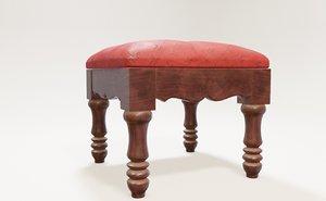 chair stool 3D