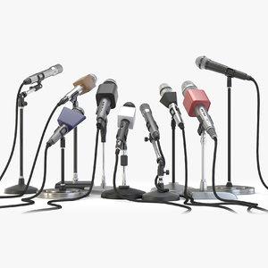 microphones stands 3D model