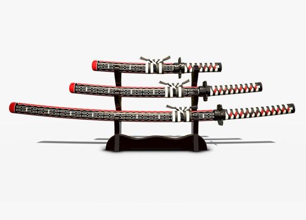 pbr unity wakizashi 3D model