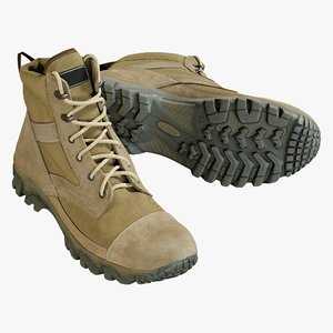 3D model realistic boots military