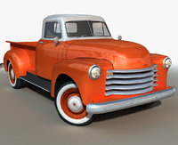 generic retro pickup 3D model