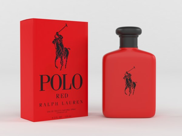polo red cologne men 3D model