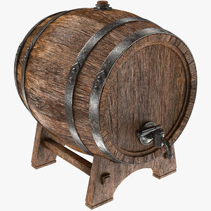 barrel wooden wood 3D model