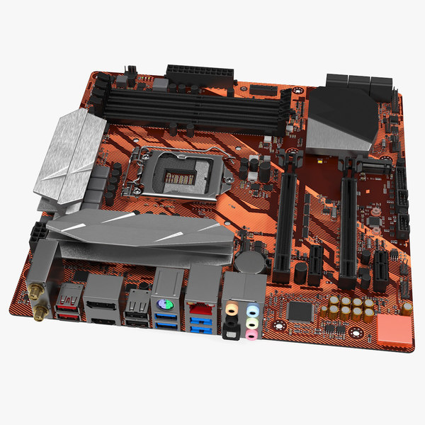 3D gaming motherboard electronic board
