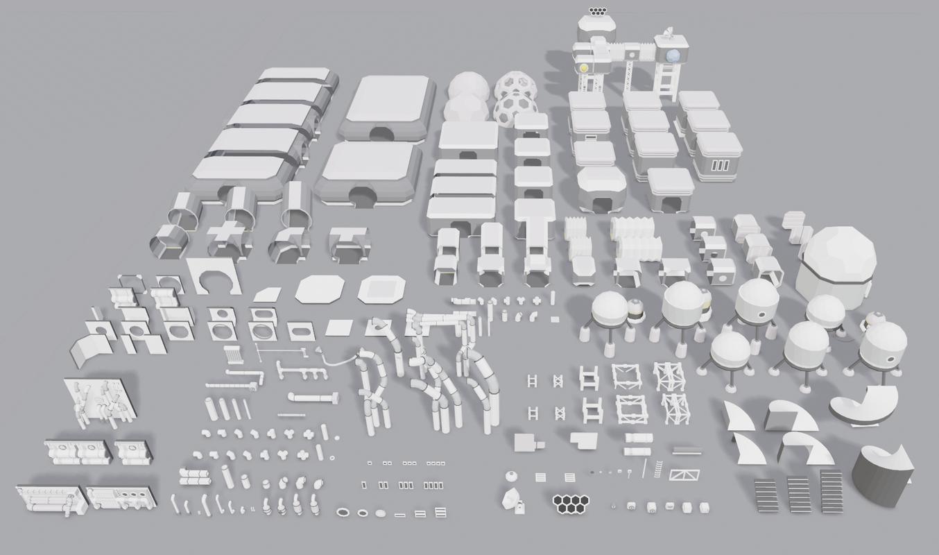 stations modular 3D
