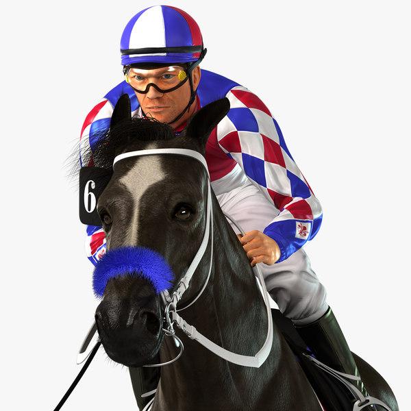 horse animations jockey model