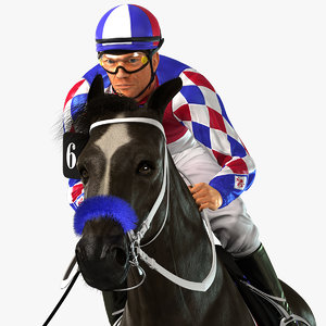 horse animations jockey model