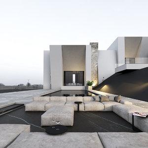 3D building villa
