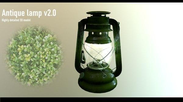 3D antique lamp