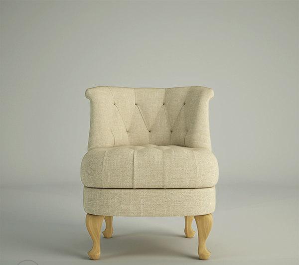 3D chair banquet person modeller