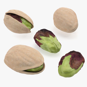 3D set pistachios roasted
