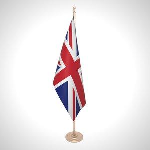 united kingdom flag 3D model