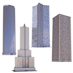 skyscraper building architecture model