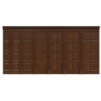 wood panels wall 3D model
