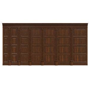 wood panels wall 3D model
