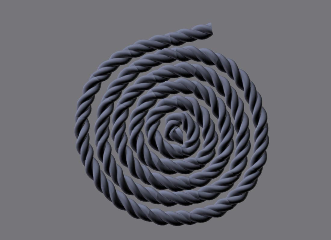 3D rope modeled model