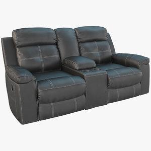 3D jesolo reclining loveseat dark model