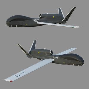 3D rq-4a global hawk