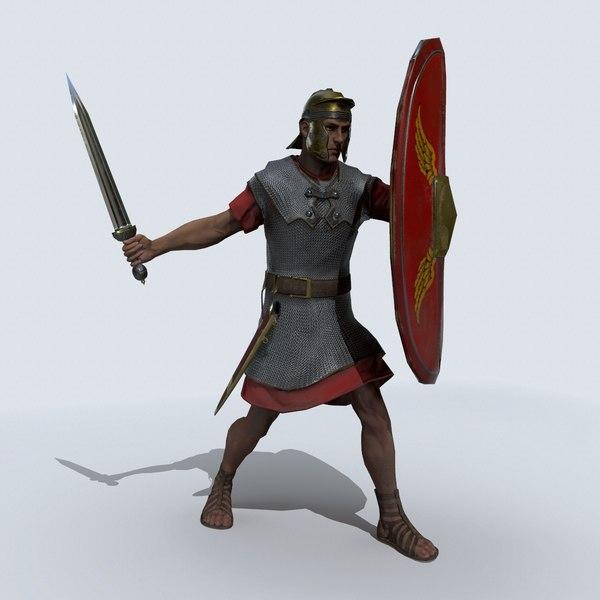 3D roman soldier