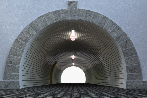 pedestrian tunnel model