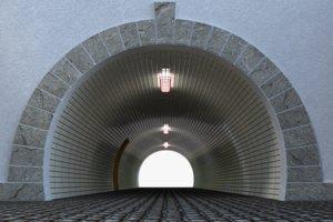 pedestrian tunnel model