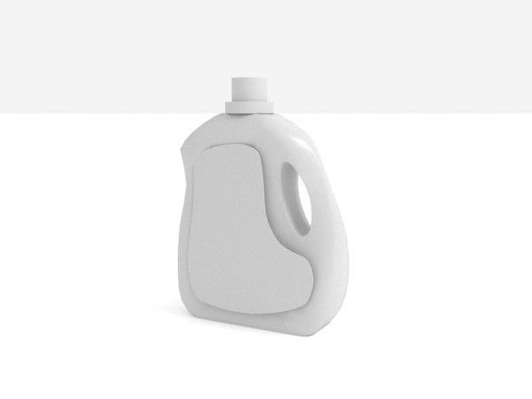 3D bottle white scene model