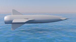 3D avro blue steel missile
