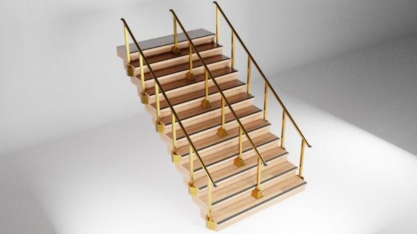 dual stair 3D model