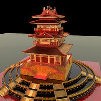 3D chinese ancient building