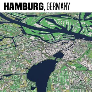 city hamburg 3D model