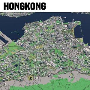 city hongkong sar china 3D model