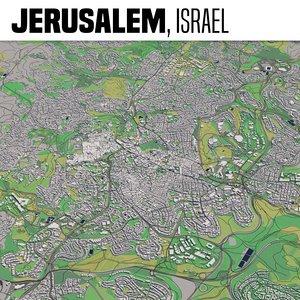 city jerusalem 3D model