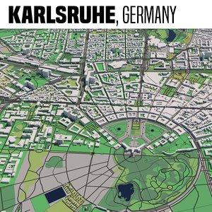 3D model city karlsruhe
