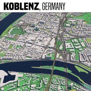 3D city koblenz