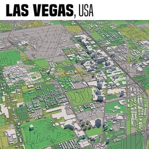 3D model city las vegas