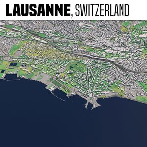 lausanne switzerland 3D