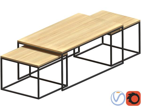 nesting table 3D model