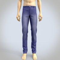 male denim pants model