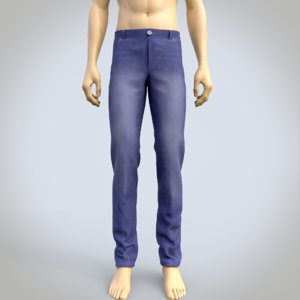 male denim pants model