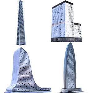 skyscrapers c 3D model