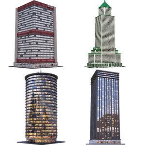 skyscrapers d 3D model
