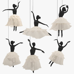 ballet hanging decoration 3D model