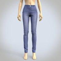 3D model female denim pants