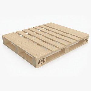 3D wooden pallet eur2