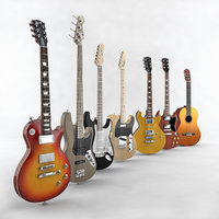 music guitar 3D model